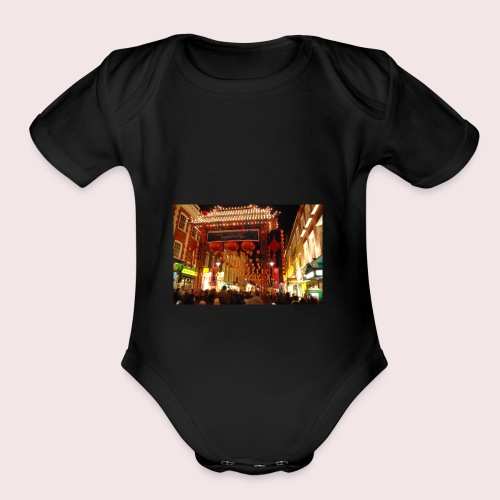 CNY Nights - Organic Short Sleeve Baby Bodysuit