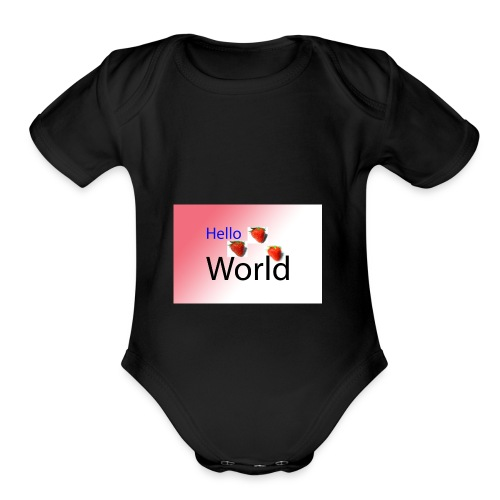 ayesha first graphic - Organic Short Sleeve Baby Bodysuit