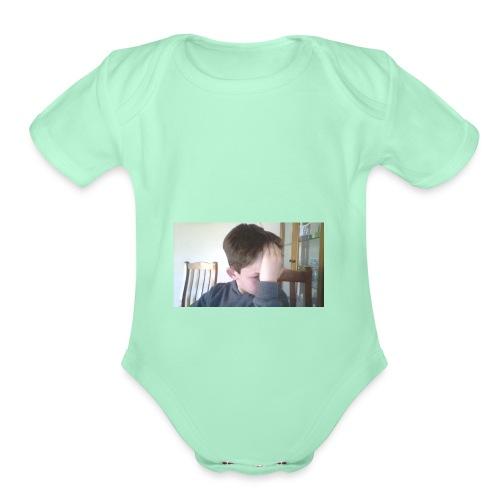 Luiz FAce!! - Organic Short Sleeve Baby Bodysuit