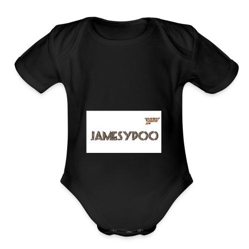 Jamesypoo logo - Organic Short Sleeve Baby Bodysuit