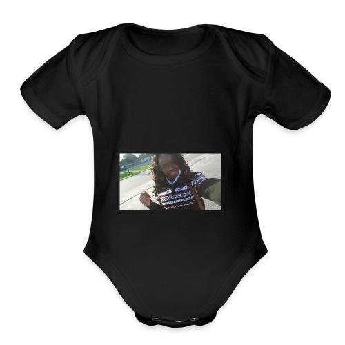 selfie hoodie - Organic Short Sleeve Baby Bodysuit