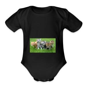 kittens - Short Sleeve Baby Bodysuit