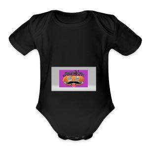 Pumpkin1 - Short Sleeve Baby Bodysuit