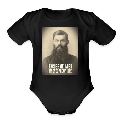 My Eyes Are Up Here - Organic Short Sleeve Baby Bodysuit