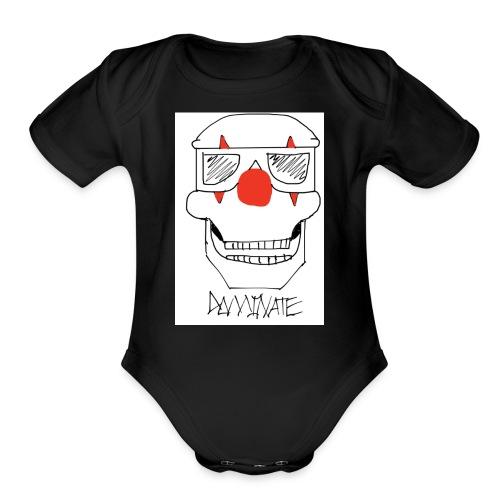 Dominate skull - Organic Short Sleeve Baby Bodysuit
