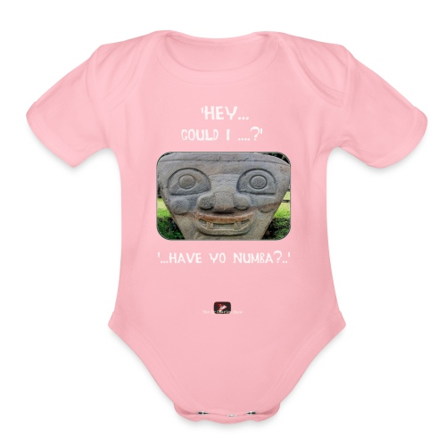 The Hey Could I have Yo Number Alien - Organic Short Sleeve Baby Bodysuit