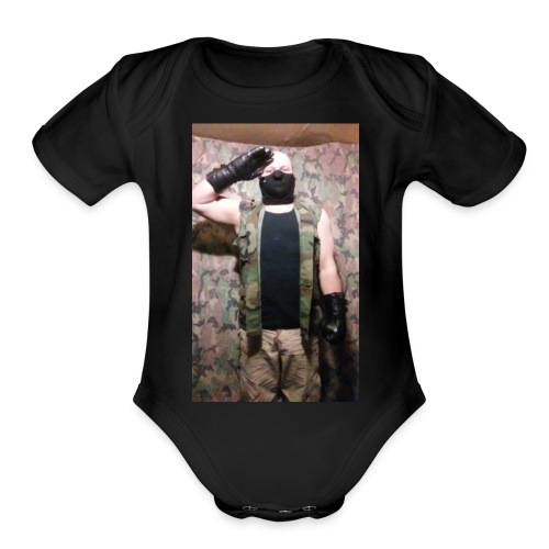 Wolf Paradox , reporting for duty - Organic Short Sleeve Baby Bodysuit