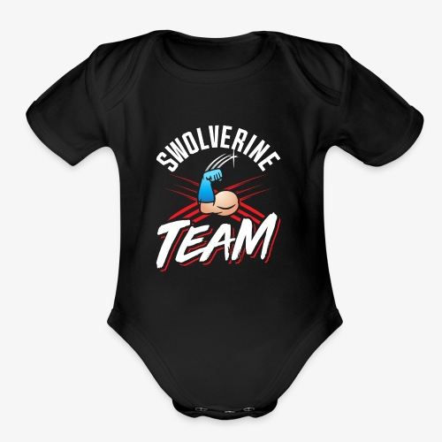 Swolverine Team - Organic Short Sleeve Baby Bodysuit