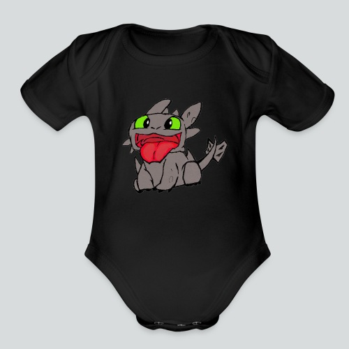 Baby Toothless - Organic Short Sleeve Baby Bodysuit