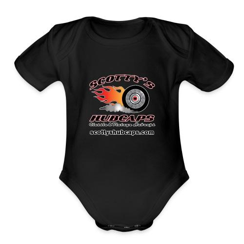 ScottysHubcaps Logo wWebsite WhiteOutline - Organic Short Sleeve Baby Bodysuit