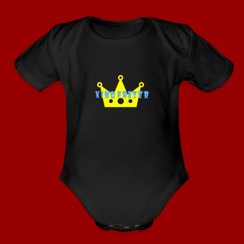 new king frazer - Organic Short Sleeve Baby Bodysuit