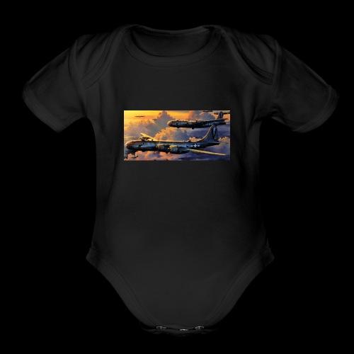Boeing B29 - Organic Short Sleeve Baby Bodysuit
