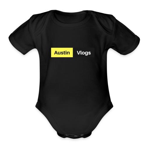 Austin Vlogs Merch - Organic Short Sleeve Baby Bodysuit