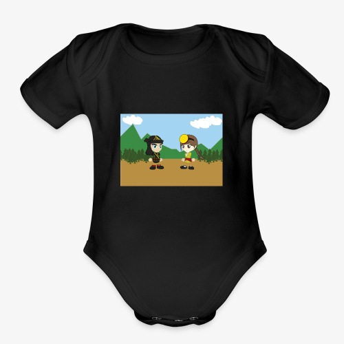 Digital Pontians - Organic Short Sleeve Baby Bodysuit