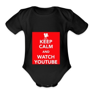 Youtube!!! - Short Sleeve Baby Bodysuit