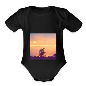 Sky cool - Short Sleeve Baby Bodysuit