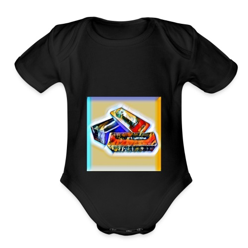 Silvers Logo - Organic Short Sleeve Baby Bodysuit