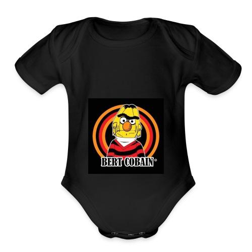 Bert Kobain - Organic Short Sleeve Baby Bodysuit