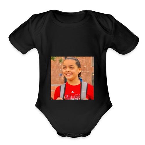 My Face. - Organic Short Sleeve Baby Bodysuit