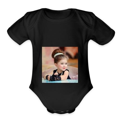 Cute baby - Organic Short Sleeve Baby Bodysuit