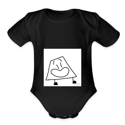 Trapezoid - Organic Short Sleeve Baby Bodysuit