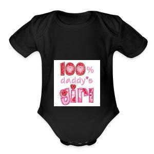 6359861514666412231626691250 daddys girl pic 2 - Short Sleeve Baby Bodysuit