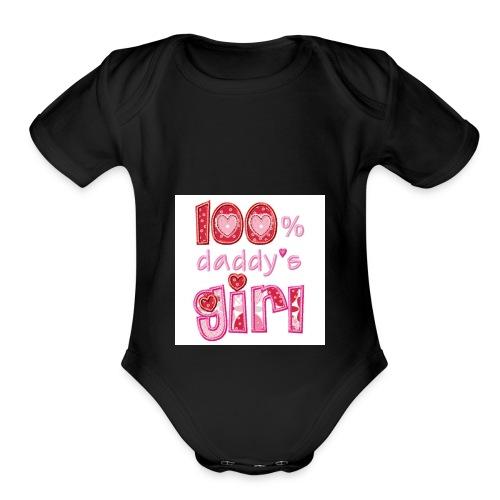 6359861514666412231626691250 daddys girl pic 2 - Organic Short Sleeve Baby Bodysuit