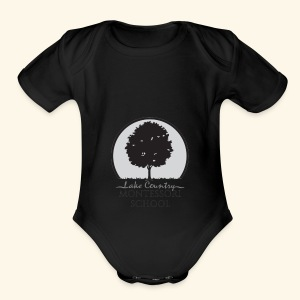LCM school logo apparel and accessories - Short Sleeve Baby Bodysuit