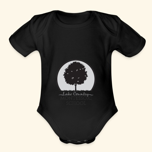 LCM school logo apparel and accessories - Organic Short Sleeve Baby Bodysuit