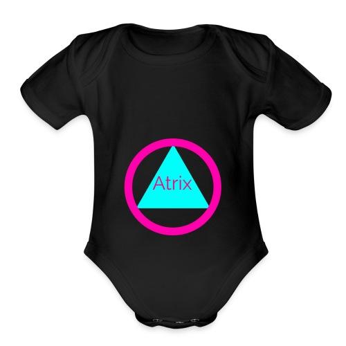 Atrix circle - Organic Short Sleeve Baby Bodysuit