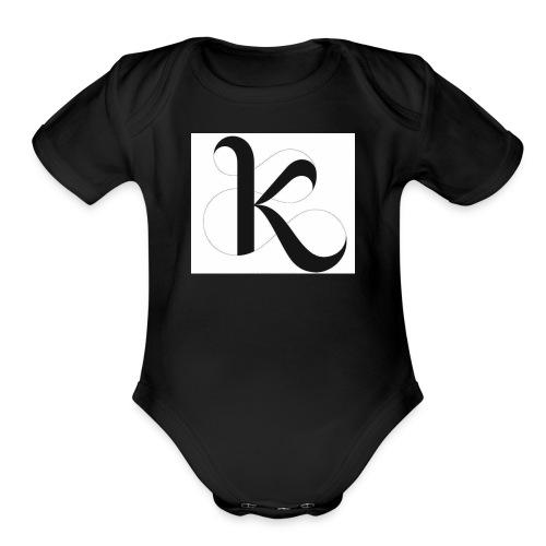 Fancy k stand for king - Organic Short Sleeve Baby Bodysuit