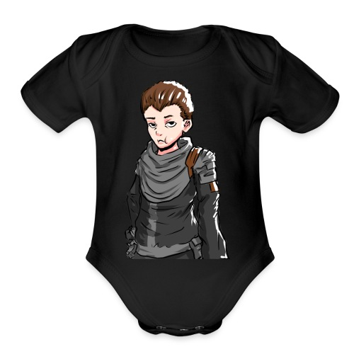 Terallian Official Large - Organic Short Sleeve Baby Bodysuit