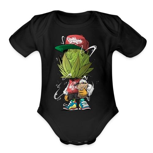 3 Budshead - Organic Short Sleeve Baby Bodysuit