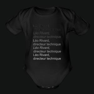 LEO TECHNICAL Rivard - Short Sleeve Baby Bodysuit