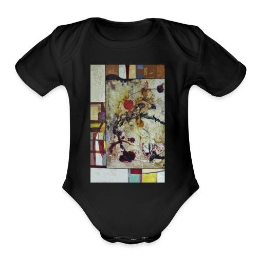COMETS - Organic Short Sleeve Baby Bodysuit