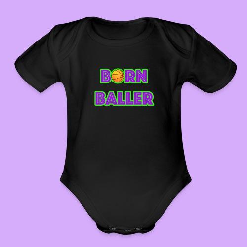 bornballerlogosmall png - Organic Short Sleeve Baby Bodysuit