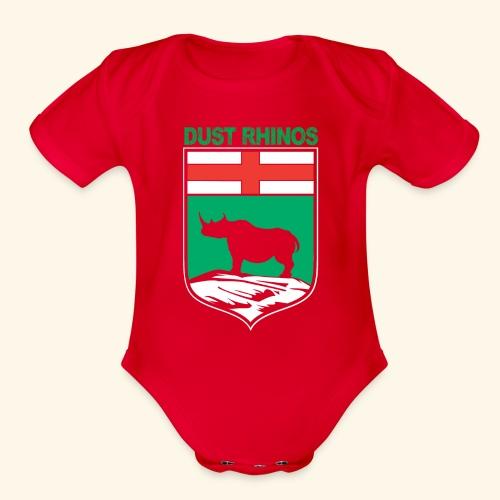 Manitoba Rhino - Organic Short Sleeve Baby Bodysuit