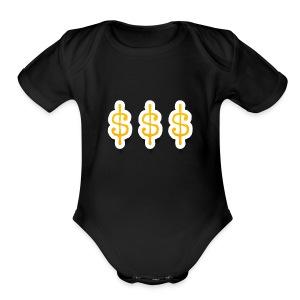 Money Mitch merchandise by Haut - Short Sleeve Baby Bodysuit