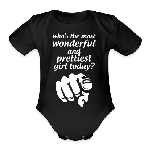 Prettiest Girl - Organic Short Sleeve Baby Bodysuit