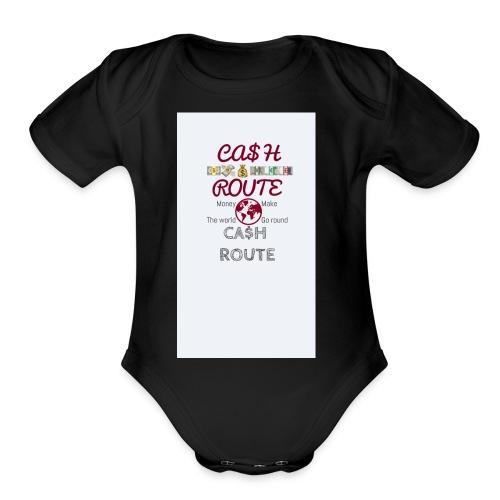 Money make the world go round - Organic Short Sleeve Baby Bodysuit