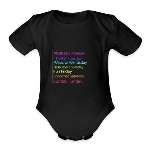 Week - Organic Short Sleeve Baby Bodysuit