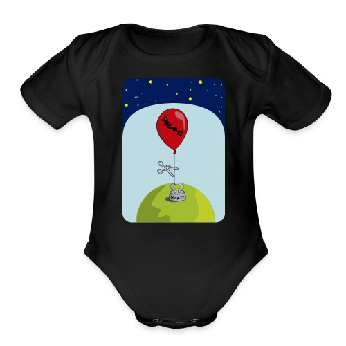 dreams balloon and society 2018 - Organic Short Sleeve Baby Bodysuit
