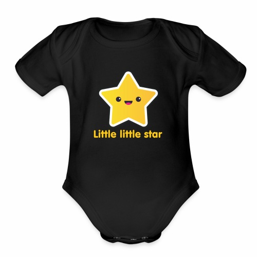 Star - Organic Short Sleeve Baby Bodysuit