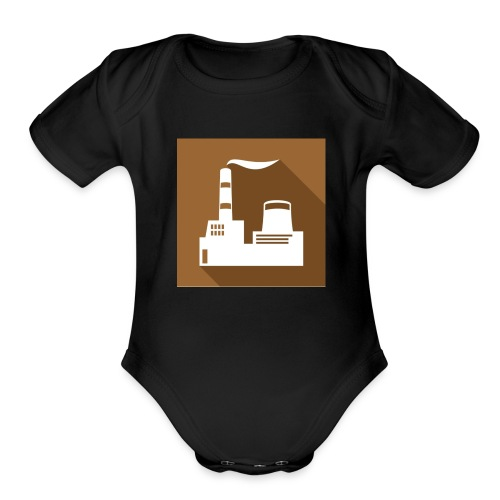flat factory vector - Organic Short Sleeve Baby Bodysuit