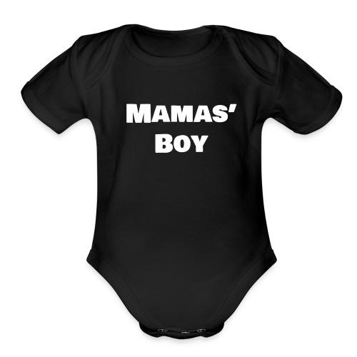 Mamas' Boy - Organic Short Sleeve Baby Bodysuit