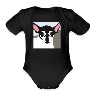 Cute Chihuahua Design - Short Sleeve Baby Bodysuit