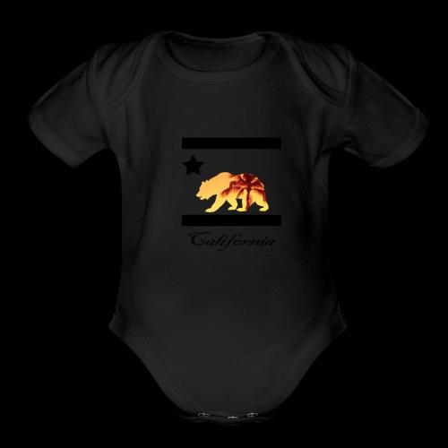 estampa carlifornia 2 - Organic Short Sleeve Baby Bodysuit
