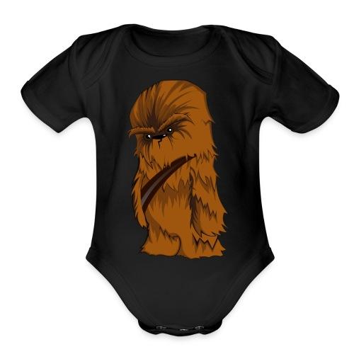 Angry Chewbacca - Organic Short Sleeve Baby Bodysuit