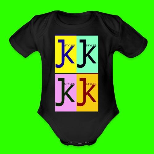 JK STYLES - Organic Short Sleeve Baby Bodysuit