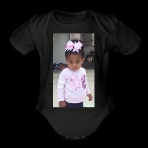 Morgan Pose - Short Sleeve Baby Bodysuit